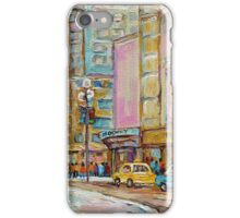 MONTREAL FORUM MONTREAL WINTER SCENES iPhone Case/Skin