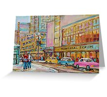 MONTREAL FORUM MONTREAL WINTER SCENES Greeting Card