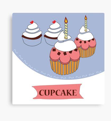 cupcake illustration  Canvas Print