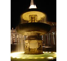 St.Peter's fountain Photographic Print