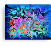 Fluid Blues Canvas Print