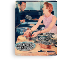 THE HUMANS ARE READY EAT Canvas Print