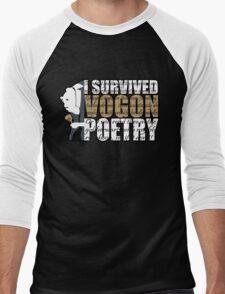 I survived Vogon poetry Men's Baseball ¾ T-Shirt
