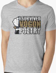 I survived Vogon poetry Mens V-Neck T-Shirt
