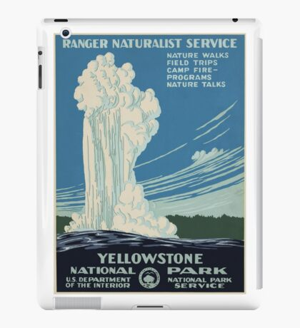 Vintage National Park Poster - Yellowstone National Park (1938) iPad Case/Skin