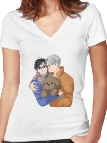 yuri on ice Women's Fitted V-Neck T-Shirt