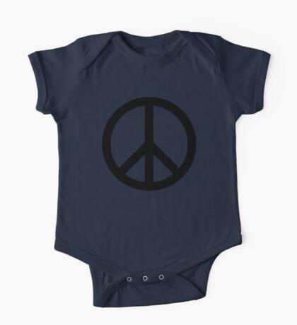 Black Peace Sign Peace Symbol One Piece - Short Sleeve