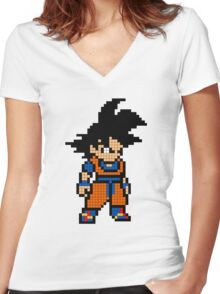 Goku 8MB Women's Fitted V-Neck T-Shirt
