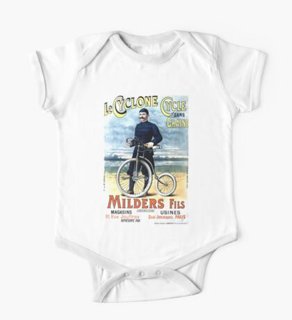CYCLONE CYCLE; Vintage Bicycle Advertising Print One Piece - Short Sleeve