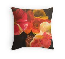 Sunlit Poppies Throw Pillow