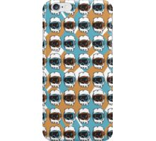 HipsterSkull Pattern 2 iPhone Case/Skin
