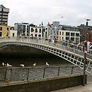 Hapenny Bridge Dublin by ValeriesGallery