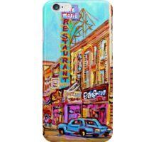 ST.CATHERINE STREET VINTAGE CITY SCENE PAINTINGS iPhone Case/Skin