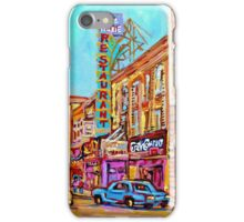 ST.CATHERINE STREET VINTAGE CITY SCENE PAINTINGS iPhone Case/Skin