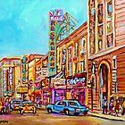 ST.CATHERINE STREET VINTAGE CITY SCENE PAINTINGS by Carole  Spandau