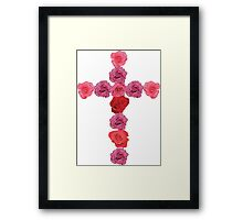 Flower Cross Framed Print