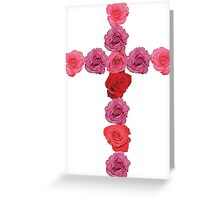 Flower Cross Greeting Card