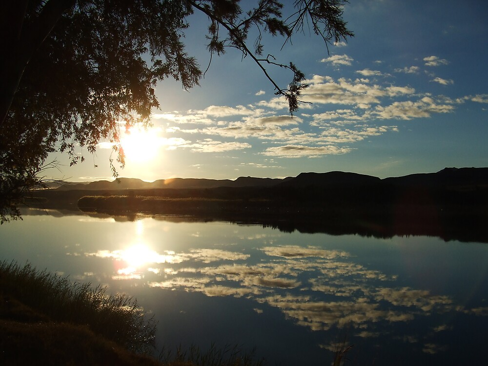 Clouds over the Orange river by Michael Dodd