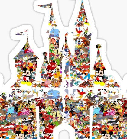 New Hot Cheap Awesome Castle All Character Cartoon Wonderland Nebula Smoke Colorful  Sticker