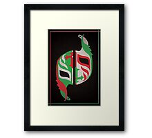 """Máscara Misteriosa"" Wrestling Design (Black) Framed Print"