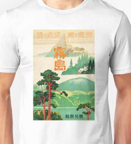 Vintage Japanese Travel Poster - Kirishima, Kagoshima (1930) Unisex T-Shirt