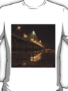 Clark Bridge at Alton, Illinois icy T-Shirt