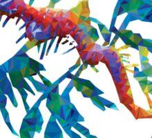 Geometric Abstract Weedy Sea Dragon Sticker