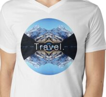 Travel. Mount Cook Mens V-Neck T-Shirt
