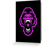 Pink Gorilla Greeting Card