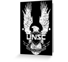 UNSC LOGO HALO 4 - GRUNT DISTRESSED LOOK Greeting Card