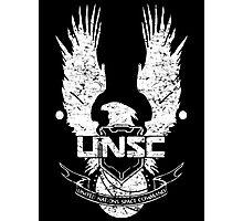 UNSC LOGO HALO 4 - GRUNT DISTRESSED LOOK Photographic Print