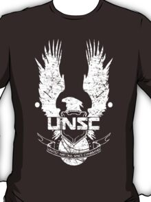 UNSC LOGO HALO 4 - GRUNT DISTRESSED LOOK T-Shirt