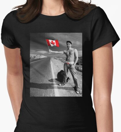 Justin Trudeau: Welcome to Canada Womens Fitted T-Shirt