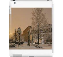 Snowy Christmas scene Historic St Charles MO iPad Case/Skin