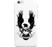 UNSC LOGO HALO 4 - CLEAN LOGO IN BLACK iPhone Case/Skin