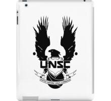 UNSC LOGO HALO 4 - CLEAN LOGO IN BLACK iPad Case/Skin