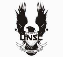 UNSC LOGO HALO 4 - CLEAN LOGO IN BLACK by Republica