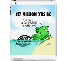 Fish Walks on Land for First Time iPad Case/Skin
