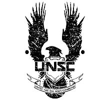 UNSC LOGO HALO 4 - GRUNT DISTRESSED LOOK Photographic Print