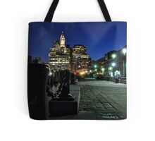Boston MA - Harbour Lights Tote Bag