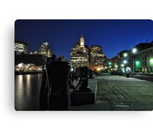 Boston MA - Harbour Lights Canvas Print