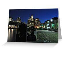 Boston MA - Harbour Lights Greeting Card