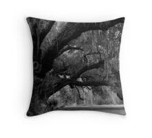 Stately Oaks Throw Pillow