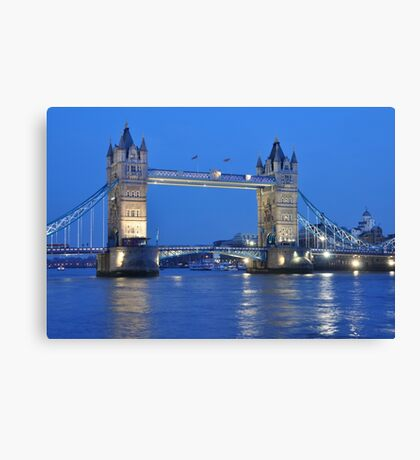 Tower Bridge Blues Canvas Print