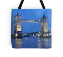 Tower Bridge Blues Tote Bag