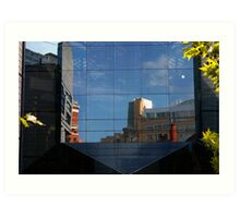 City in glass Art Print