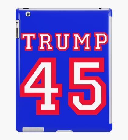 President Donald Trump 45 Jersey Style 2016 Make America Great Again Shirt 45th 2016 US  iPad Case/Skin