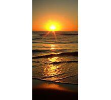 Sun rising above horizon Photographic Print