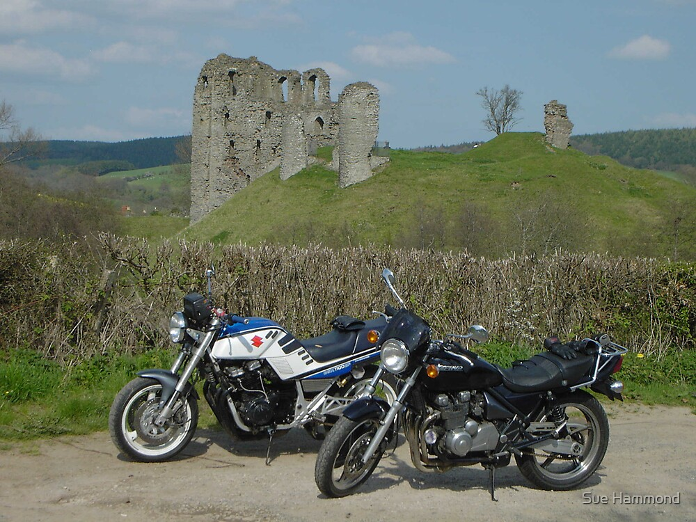 Bikes and Castle by Sue Hammond