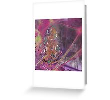 Purple lightning Greeting Card